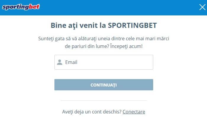 Contului de Utilizator pe Sportingbet